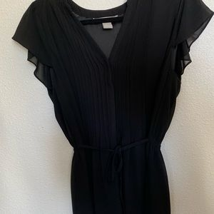 H&M black dress with attached belt